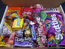 American Sweets Gift Box USA Candy Hamper Wonka Nerds  Birthday Halloween