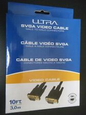 Ultra SVGA Video Cable, 10ft, M to M connectors