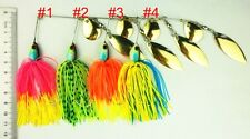 A0302 SET 4 ARTIFICIALI SPINNING SPINNERBAIT 19,5 GR BLACK TROTA LUCCIO PIKE