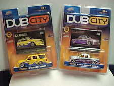 (2) DUB CITY 1/64 FORD EXPEDITION, FORD SUPER CREW TRUCKS BRAND NEW