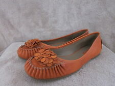 ECCO Genova Burnt Ochre Orange Womens Slip On Flats Shoes US 7 - 7.5  EU 38 NWOB