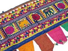 Vintage Handmade Decorative Toran Gujarat India Window Covering Valance Topper