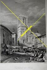 Stich: Cathédrale de Nimes um 1880 (24819)
