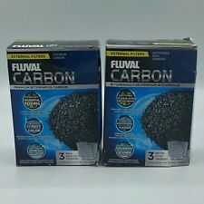 (2)Pk Fluval Activated Carbon Media External Filter  (3)x100g
