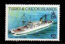 TURKS & CAICOS IS. SG781 1983 $2 SHIP MNH