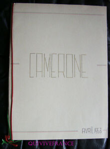 PROGAMME CAMERONE 1953 LEGION ETRANGERE SIDI-BEL-ABBES