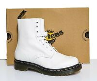 Dr. Martens 1460 Women's Pascal Op White Virginia Leather Ankle Boots 26802543