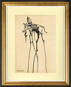 SALVADOR DALI - old sketch pencil INK - GREAT ART !!!