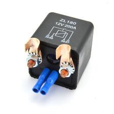 Batterie Trennrelais 12V/200A Spitzenlast Fahrzeugrelais mit 2 Klemmen & 2Kappen