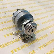 Custom, Hot Rod, Universal Keyed Ignition Switch With Ribbed Alum Bezel - 12V