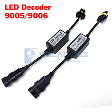2x EMC 9006 HB4 Headlight Kit Canbus LED Decoder Anti-Flicker Relay Adapter