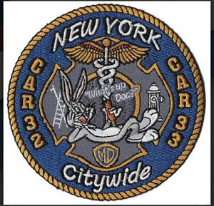 """FDNY New York City Fire Department Car 32/33 """"Citywide"""" Patch."""