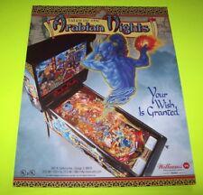 Tales Of The Arabian Nights Pinball FLYER Original NOS 1996 Williams Game Art