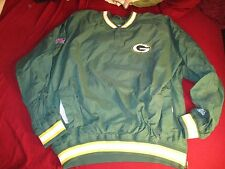 Green Bay Packers Jacket pullover starter NFL pro LG
