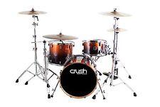 """Crush Drums Sublime Maple 4 Piece Drum Kit/Copper Sparkle Fade/26"""" Bass Drum/NEW"""