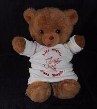 VINTAGE BARNES HOSPITAL ST LOUIS MISSOURI BROWN TEDDY BEAR STUFFED ANIMAL PLUSH