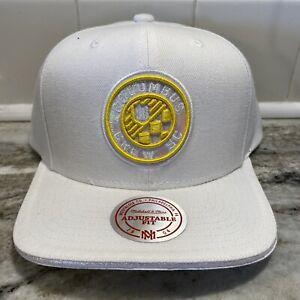 Columbus Crew SC Mitchell & Ness Diamond Old Logo Snapback Hat Cap - White