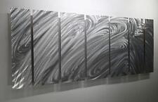 Stunning Silver Modern Abstract Metal Wall Art by Jon Allen - 7P 1025 OP