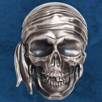 Palau - Big Pirate Skull - 25 $ 2018 Antique finish - Silber - Piraten Totenkopf