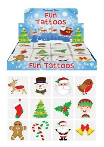 72 x CHRISTMAS Temporary Tattoos Kids Girls Boys Party Bag Stocking Fillers