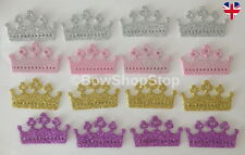 16 DIE CUT Glitter Mousse couronnes Or Rose Argent Lilas Cardmaking Crafts Toppers