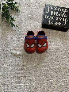 Crocs Marvel Spider-Man Kids Size 6/7 Unisex Kids Clogs Shoes Slip On
