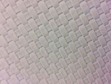 "White Basket Weave Woven Upholstery Vinyl Fabric - Sold By The Yard - 54"" / 55"""