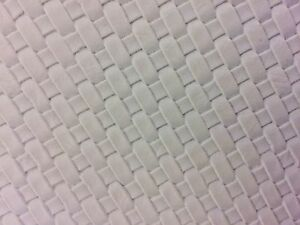 """White Basket Weave Woven Upholstery Vinyl Fabric - Sold By The Yard - 54"""" / 55"""""""