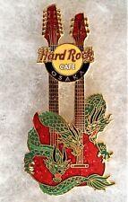 HARD ROCK CAFE OSAKA GREEN DRAGONS AROUND RED DOUBLENECK GUITAR PIN # 27949