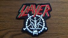 SLAYER + LOGO,SEW ON EMBROIDERED PATCH