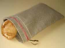 """Rustic Natural Linen Bread Bag. Food storage bags. Reusable linen bag 8.6""""x11.8"""""""
