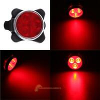 USB Rechargeable 4 Modes 3 LED Cycling Bicycle Bike Head Front Rear Tail light