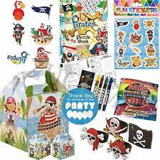 Pirate Pre Filled Childrens Kids Party Bags - Ready Made Parcels Box Boys Girls
