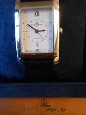 Baume & Mercier Hampton HAU Armbanduhr Automatik Edelstahl Datum Lederarmband