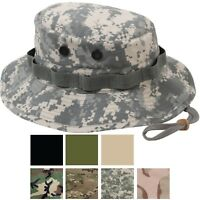 Ripstop Boonie Hat Lightweight Camo Wide Brim Military Bucket Bush Summer Sun