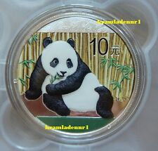 China Panda 2015 Color - BU - Farbe 1 Oz .999 Ag * *Maximal 5.000 Ex. * *