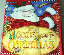 Mary Engelbreit The Night Before Christmas Poem Story Fabric Book By Cranston