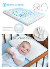 Memory Foam Baby Pillow Anti Flat Head Syndrome Breathable Cover 48 X 26 Cm
