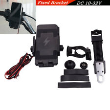 """1X Motorcycle Bicycle Wireless Charging Mobile Phone Bracket Holder For 4.5-7.0"""""""