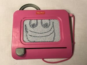 Fisher-Price Clip-On Doodle Pro Travel Toy Pink Magnet Drawing Car Ride Fun