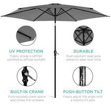 Decoración de paraguas de patio de mercado de acero al aire libre de 10 pies co