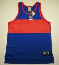 Nwt Adidas Blue Cut-Off Men's Sleeveless Athletic Tank Jersey Top Size Medium