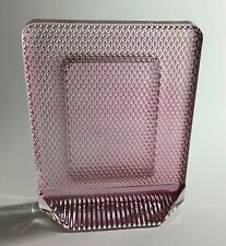 "Heavy Textured Pink Glass Photo Frame Photos 2-1/2"" x 3-12"""