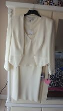 LADIES WEDDING SUIT IN CREAM UK 14 BY D.U.S.K