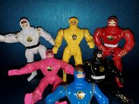 Rare Mighty Morphin (6) Power Rangers Ninja Action Figures.     Bandai 1995