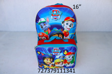 """Nickelodeon Boy Paw Patrol 16"""" Backpack With Detachable Matching Lunch Box-1341"""