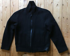 ICEBERG Ice Jeans Black Wook Zip Sweater L Large MADE IN ITALY