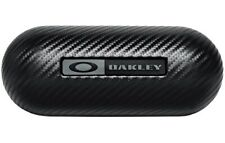 New Oakley  Carbon Fiber Hard sunglasses Case W Cleaning Cloth And Dust Bag.