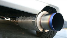 HKS Stainless Steel Hi Power Ti Muffler Burnt Blue Flame Exhaust Tail Pipe XL 3""