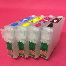 4 Refillable Multi-Use Empty Printer Cartridges For Epson Stylus SX435W SX 435 W
